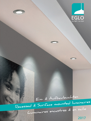 EGLO Recessed & Surface mounted luminaires 2017